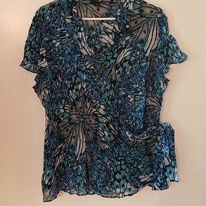 Multi-colored fancy blouse
